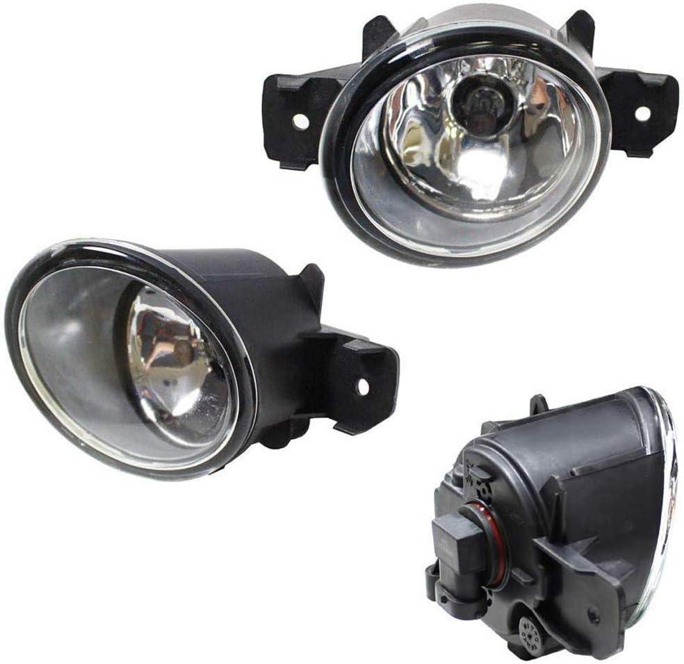 1 Set Front Bumper Fog Light Assembly Bulbs For Mazda 3 2010-11 Lamp Cover Trims