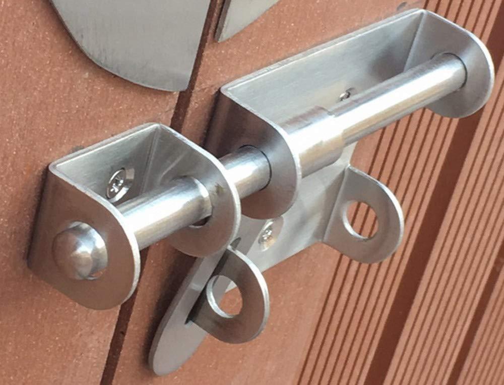 Slide Bolt Latch Gate Latches Safety Door Lock,Stainless Steel Brushed Finish SEN