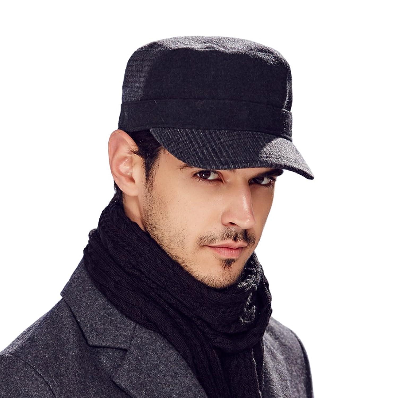 Kenmont Winter herbst Männer Wolle einfarbig Golf Visier Kadett Militär Hut Mütze