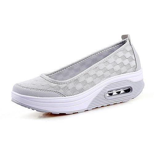 Zapatos Mujer de Deporte Suaves Zapatillas Casual Respirables Plataforma: Amazon.es: Zapatos y complementos