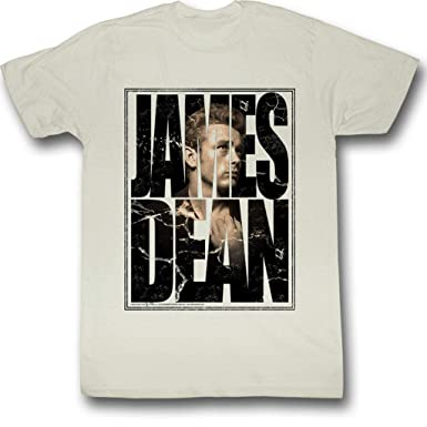 4c95a675608 Amazon.com: James Dean Shirt James Cracked Adult Dirty White Tee T ...