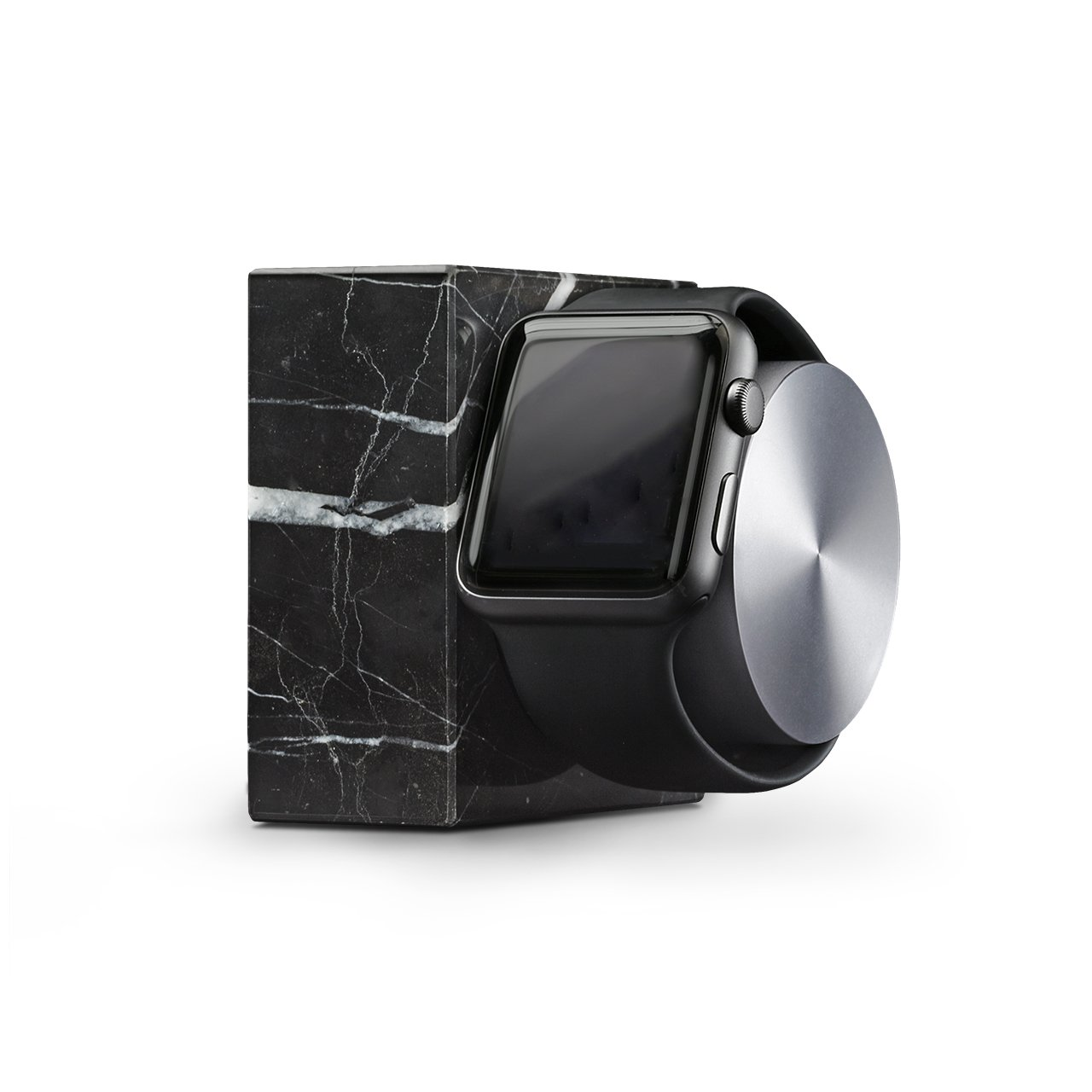 Native Union DOCK for Apple Watch (Luxury Tech) - Marble Weighted Charging Dock for Apple Watch (Black) by Native Union (Image #1)