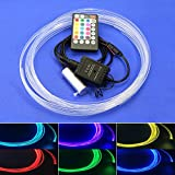 2W 28 Key Remote Music Mode LED Light Engine for Side Glow Fiber Optic Cable