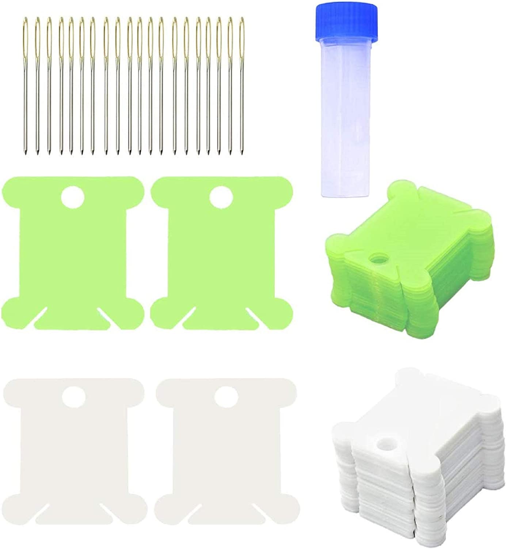 Plastic Floss Bobbins Embroidery Floss Organizer 6 Pack Cross Stitch Thread Holder Storage Tool,Embroidery Needlecraft Loose Thread Organizer