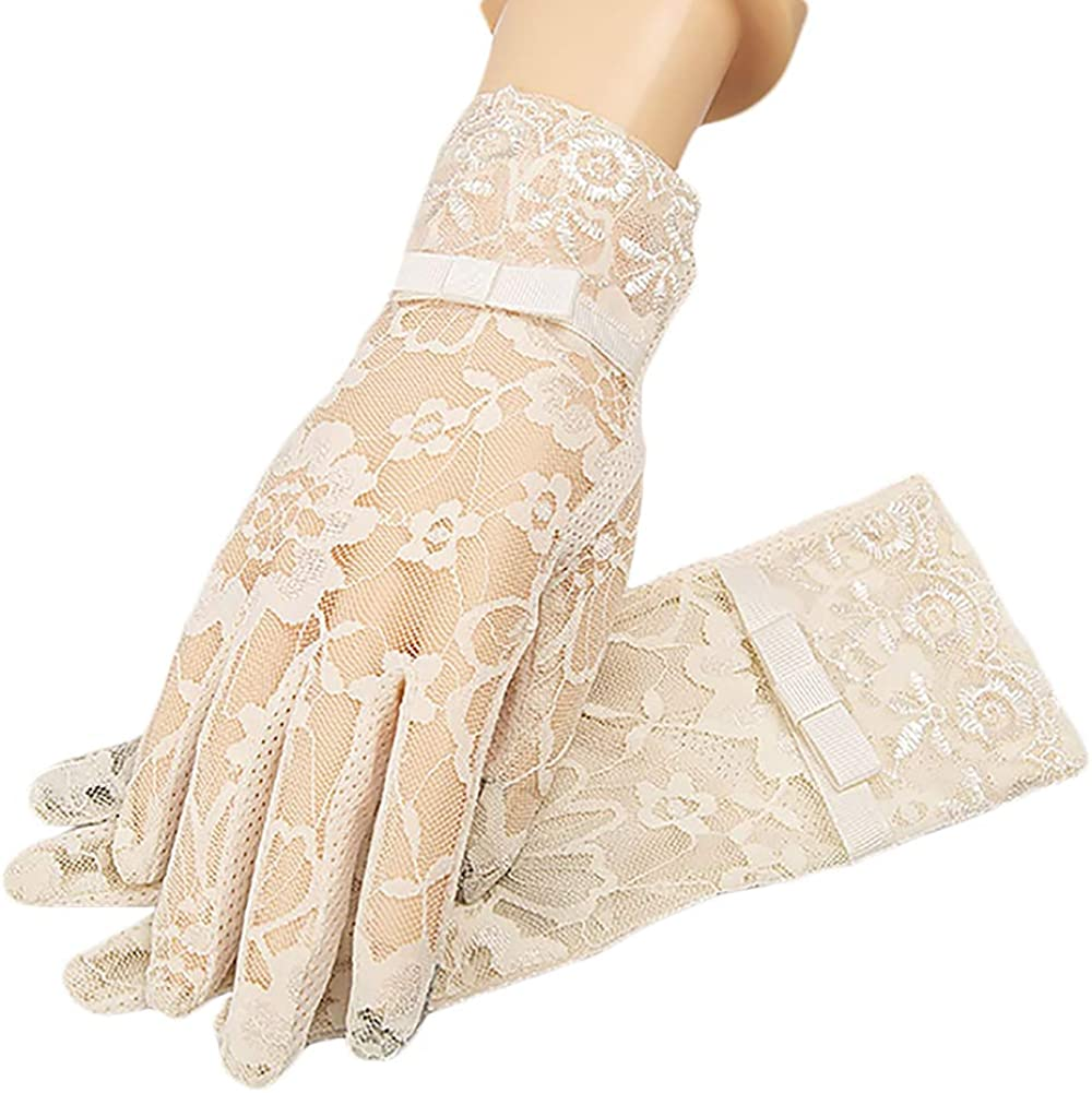 Abiti Da Sera Qvc.Amazon Com Vikenner Lace Short Non Slip Gloves Floral Elegant