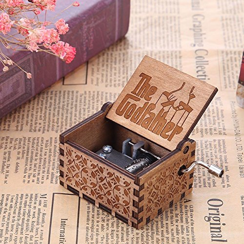 Gift for Daughter from Mom Hand Carved You are My Sunshine Engraved Music Box
