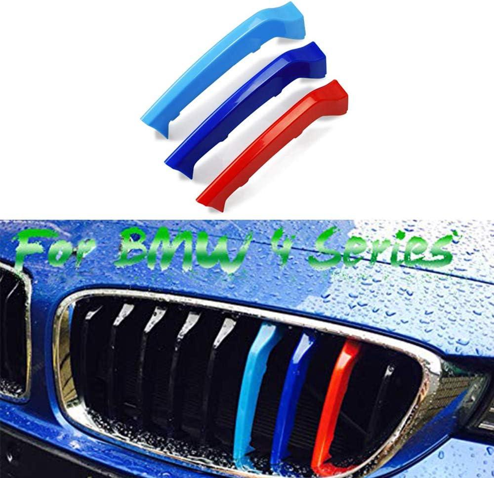 3D Calandres Avant Couverture D/écoration Autocollants Grill Trim Kidney Clip Couverture 9 Grille Pour B M W 4 Series F32 F33 420i 428i 435i 2013-2018
