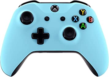 Amazon Com Xbox One Wireless Controller For Microsoft Xbox One Custom Soft Touch Feel Custom Xbox One Controller Baby Blue Computers Accessories