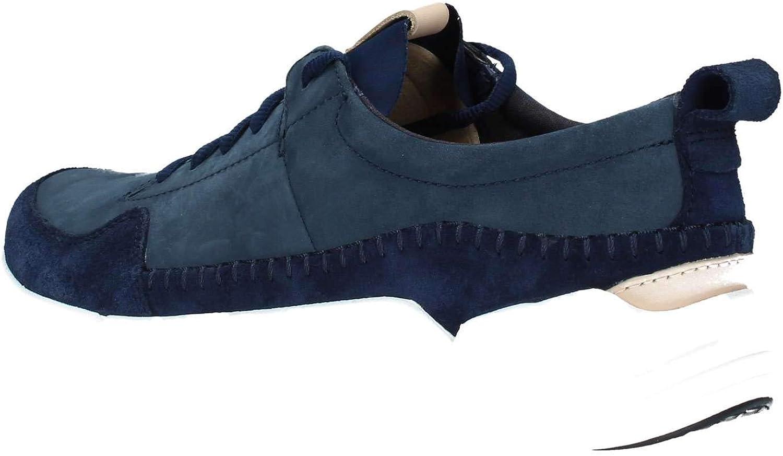 Clarks Triactive Run, Sneakers Basses Homme Bleu Navy Nubuck