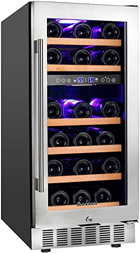 Aobosi-15-28-Bottle-Dual-Zone-Wine-Refrigerator