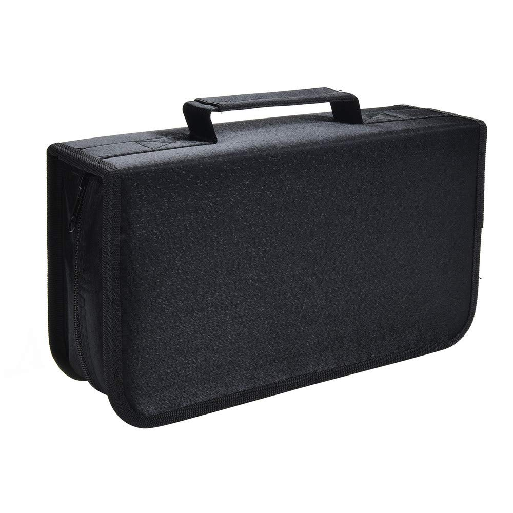 Siveit 128 Capacity CD/DVD Case Wallet, Binder, Storage, Holder, Booklet for Car, Home, Office and Travel (Black)