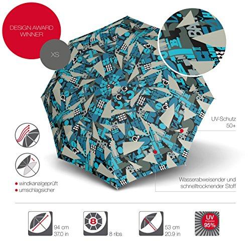 Knirps X1 811 Taschenschirm marineblau Calypso, Grey