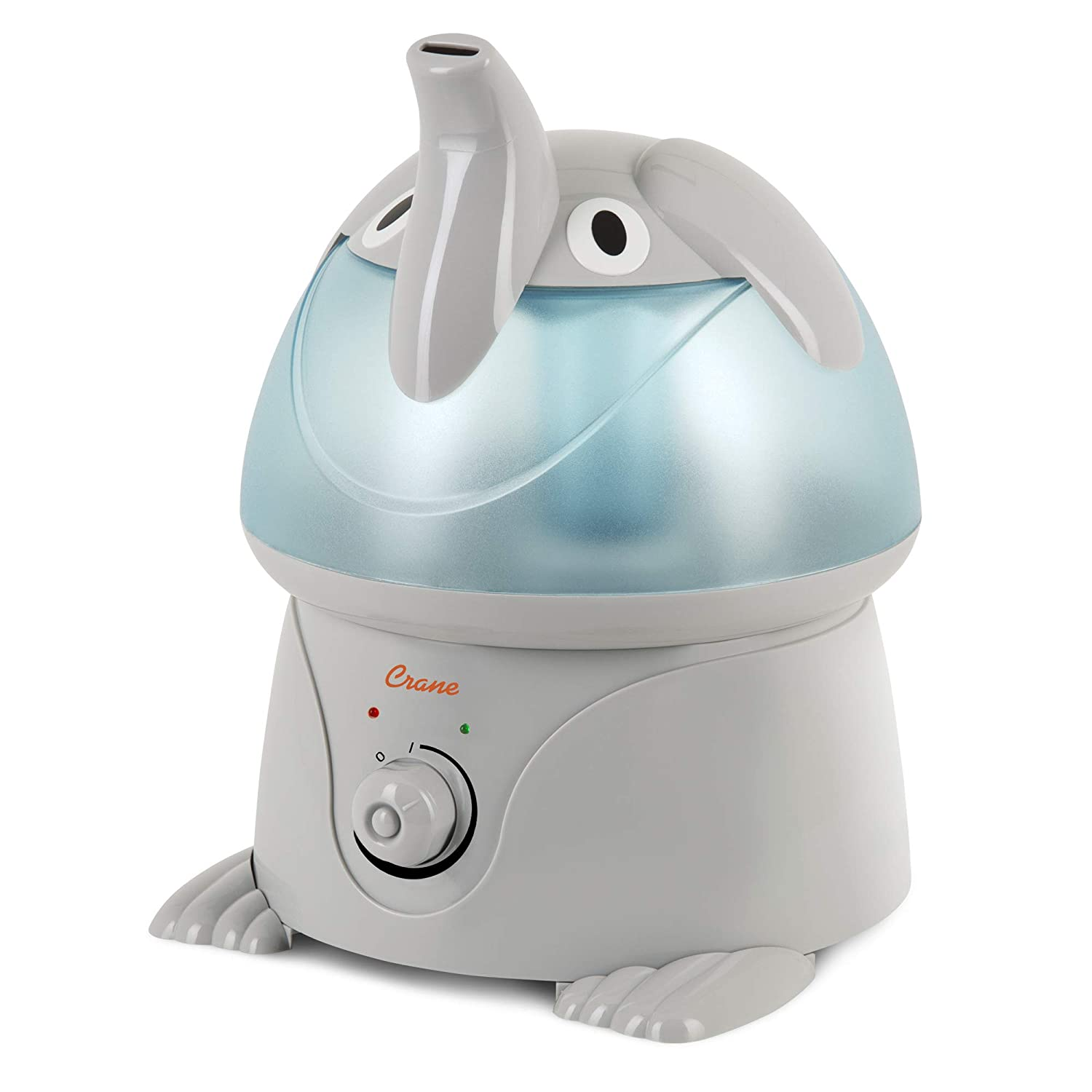 Crane USA Filter Free Cool Mist Humidifiers for Kids, Elephant