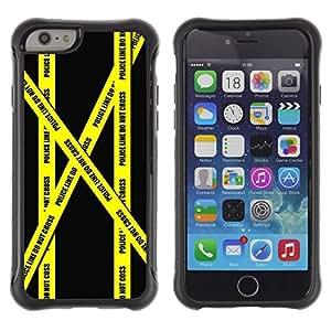 Suave TPU GEL Carcasa Funda Silicona Blando Estuche Caso de protección (para) Apple Iphone 6 / CECELL Phone case / / Don'T Go Police Tape Crime Scene Yellow /
