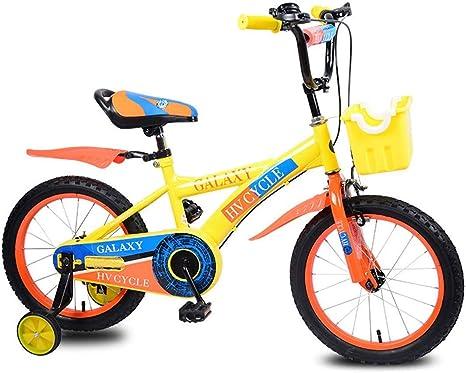 FEE-ZC Bicicleta de Seguridad para niños de 16 Pulgadas con Ruedas de Entrenamiento Bicicleta para niños y niñas de 5 a 8 años: Amazon.es: Deportes y aire libre