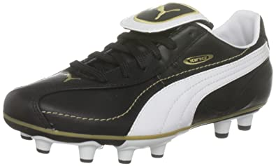738873790 PUMA King XL i FG Boys Leather Soccer Boots Cleats-Black-4.5