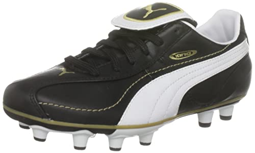 Puma Youth King XL I FG Jr Black White Gold Sports Football Moulds 101589 0998ba483