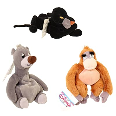 """Disney Jungle Book Set of 8"""" Plush Bean Bags with King Louie, Baloo, and Bagherra Dolls: Toys & Games [5Bkhe2005650]"""