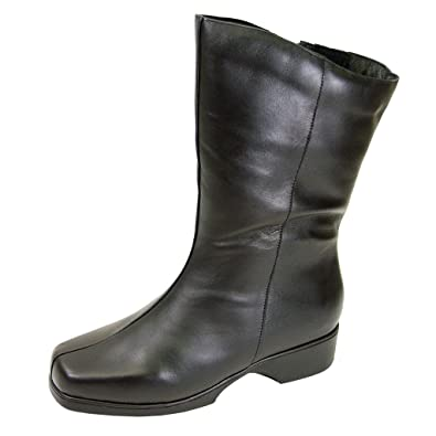 FIC PEERAGE Simone Women Wide Width Casual/Dress Mid-Calf Leather Boot (Size/Measurement Guide Available)