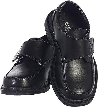Lito Boys Matte Dress Shoes w/Velcro