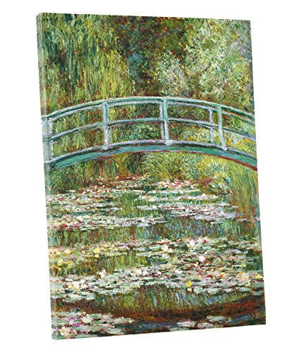 Niwo Art (TM) - Water Lily Pond 1899, by Claude Monet - Oil painting Reproductions - Giclee Canvas Prints Wall Art for Home Decor, Stretched and Framed Ready to Hang