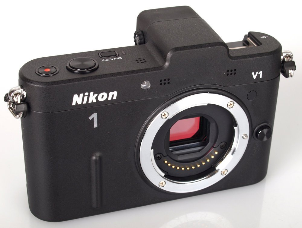 Nikon ミラーレス一眼カメラ Nikon 1 (ニコンワン) V1 (ブイワン) ボディ ブラック N1 V1 BK  ブラック B006LSBD6K