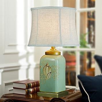 Shuang Lámparas de Mesa de cerámica - Luces de cabecera del ...