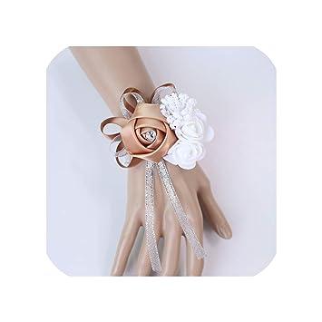 Amazon Com Wrist Corsage Bridesmaid Sisters Hand Flowers
