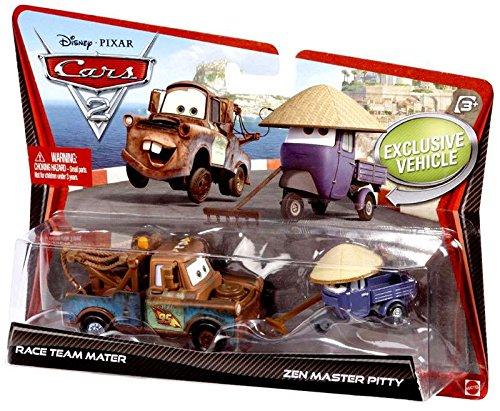 Disney / Pixar CARS 2 Movie 155 Die Cast Car 2Pack Race Team Mater Zen Master Pitty