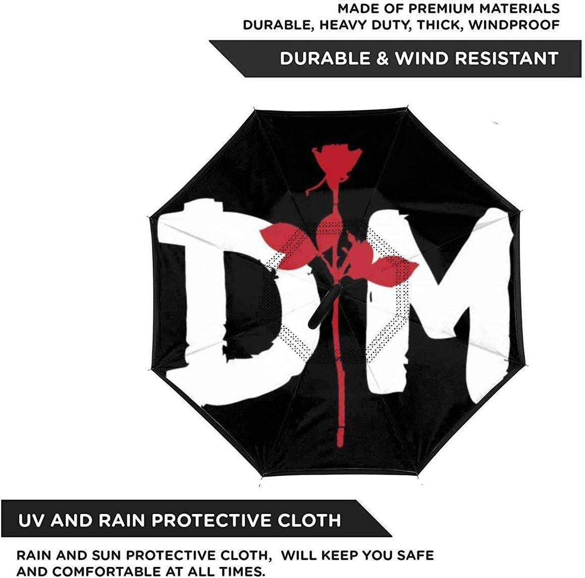 Hgnhgbn Depeche Mode Windproof And UV Resistant Fabric Car Reverse Umbrella