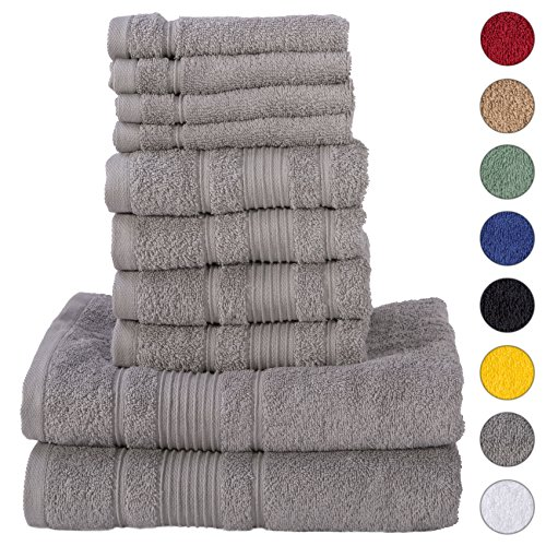 Qute Home 8 Piece Towel Set | Premium Quality Luxury Turkish