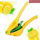 Lemon Squeezer - Kaitsy Premium Quality Metal Citrus Squeezer 2-in-1 Lemon Juicer / Lime Squeezer