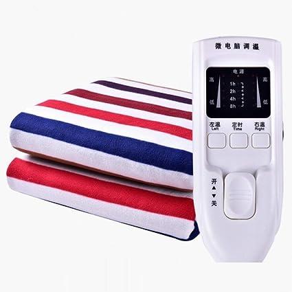 CGAOYUHUA Manta eléctrica de Doble Control, Manta eléctrica calentada, Suave con Manto Inferior con