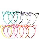 Manc GG Boutique Cat Ear Headbands Headwear Hair Head Bands Hair Accessories Wash Face Hairlace, Makeup Hairband Party Tool for Women and Girls Plastic 11PCS