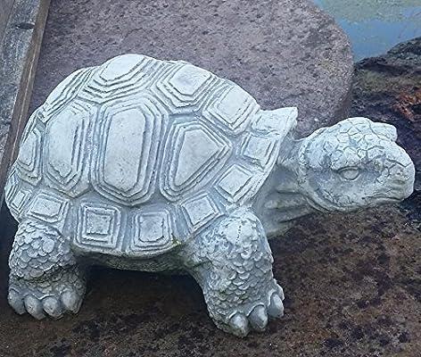 Figura de piedra grandes Tortuga 40 cm Decoración Jardín Animales ...
