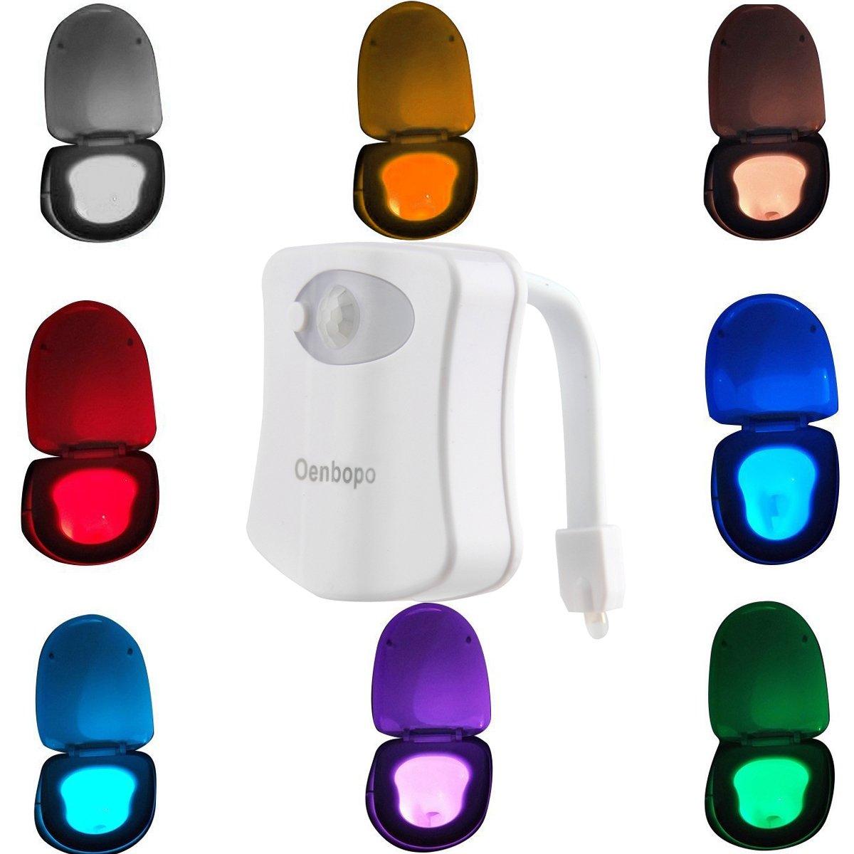 Colorful Motion Sensor Toilet Nightlight Oenbopo Home Toilet Bathroom Human B.. 14