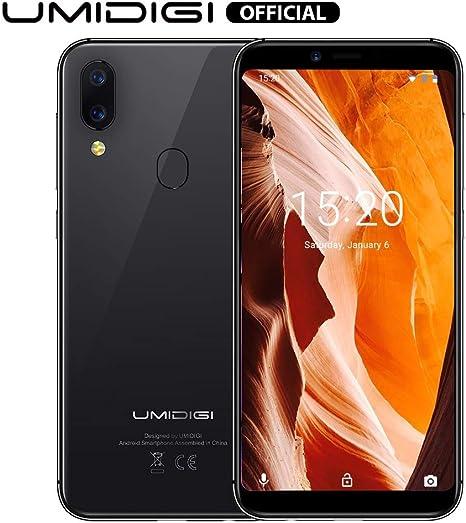 UMIDIGI - Teléfono celular A3 con pantalla de 5,5 pulgadas, 16 GB + 2 GB Ram Android 8.1, triple ranura, 2 NanoSIMs + Micro-SD 12 MP + 5 MP Dual Camera Fingerprint ID 3300 mAh batería desbloqueada Smartphones: Amazon.es: Electrónica