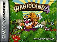 Wario land 4 GBA Instruction Booklet (Game Boy Advance