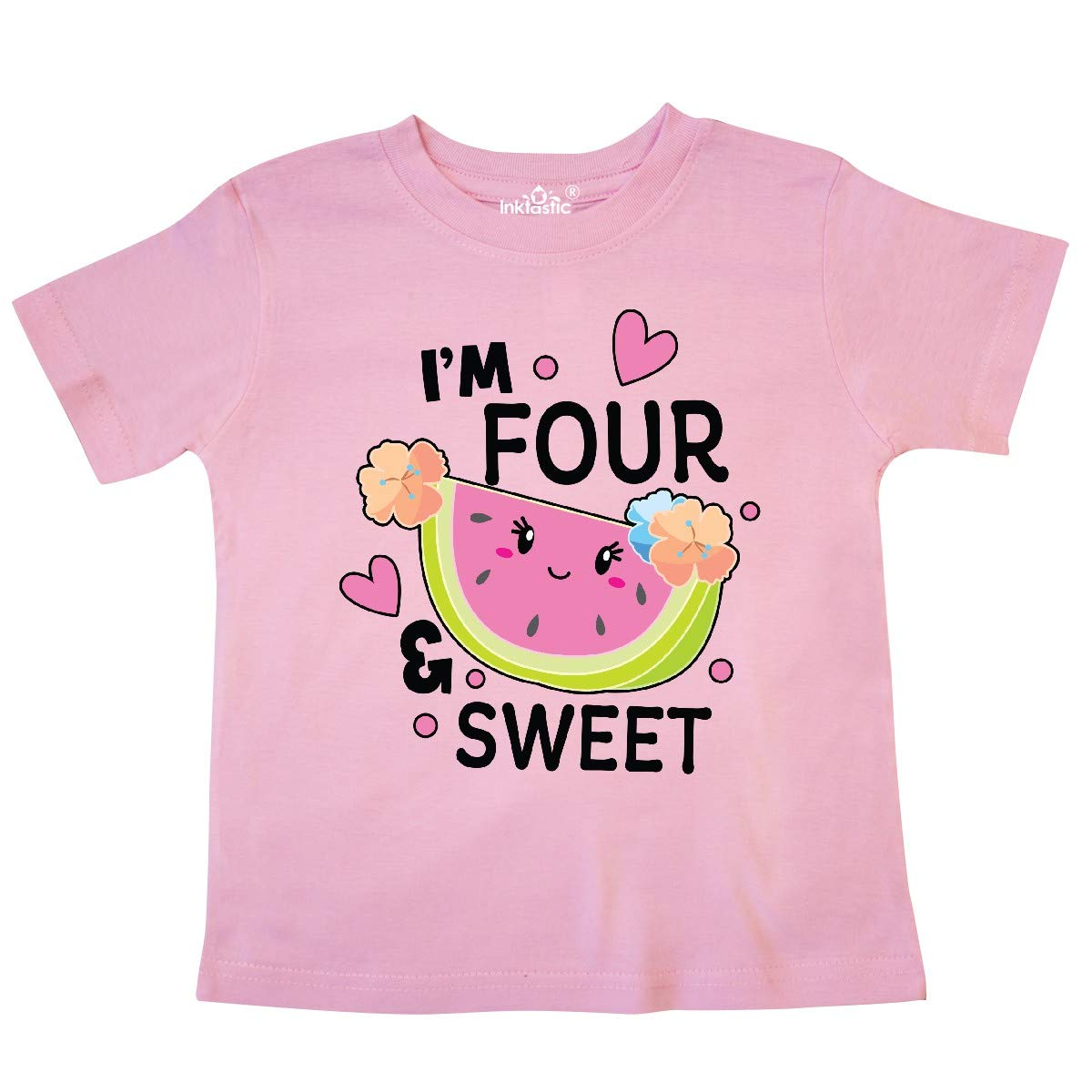 inktastic Im 4 and Sweet with Cute Watermelon Toddler T-Shirt