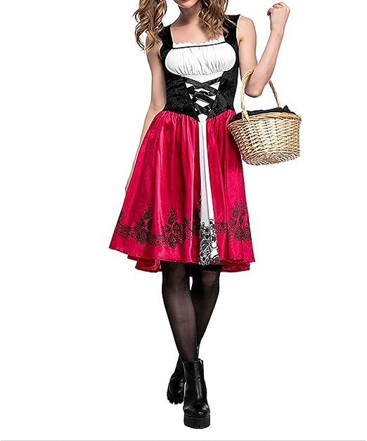 Jasmine7 Disfraz de Caperucita Roja de Halloween Fiesta de Navidad ...