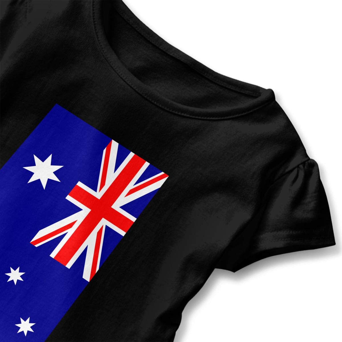 SHIRT1-KIDS Flag of Australia Toddler//Infant Girls Short Sleeve T-Shirts Ruffles Shirt Tee Jersey for 2-6T