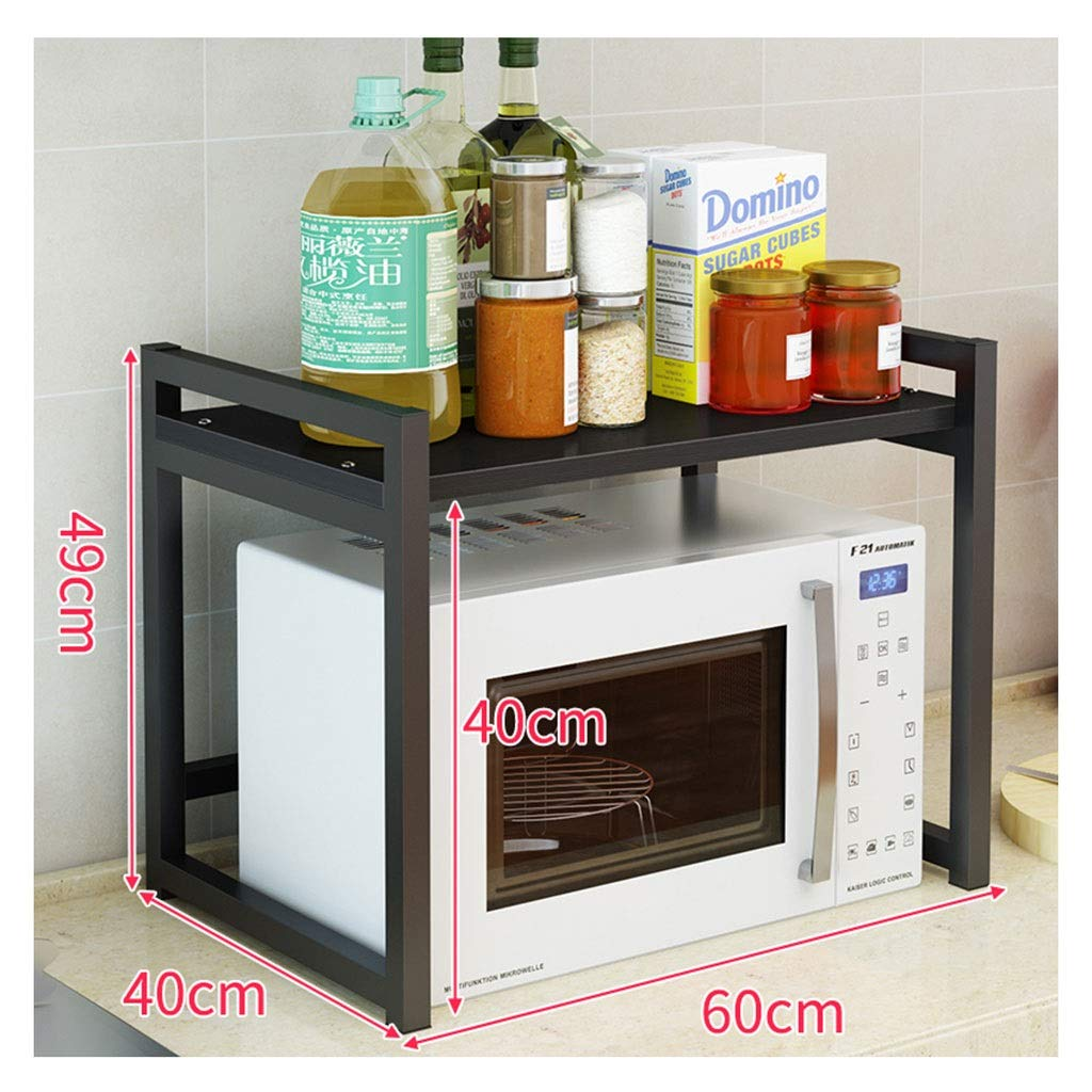 H Microwave Oven Rack, More Kinetic Energy Metal Kitchen Racks Counter and Cabinet Single Storey Shelf (color   G)