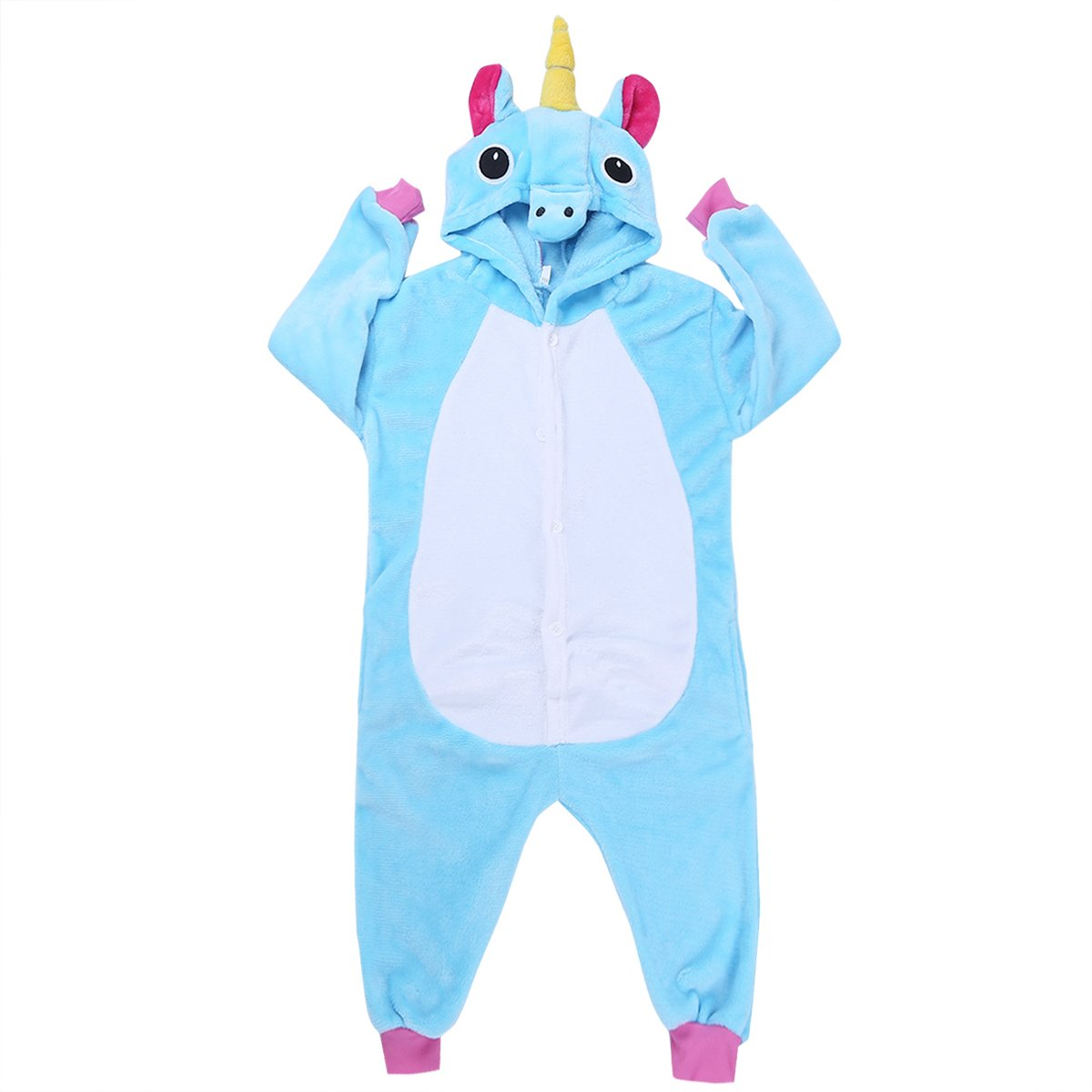 iEFiEL Pijama Divertido para Niño Niña Unisex Disfraces de Animal Mono Pijama con Capacha Invierno Otoño Confortable Calentito: Amazon.es: Ropa y accesorios