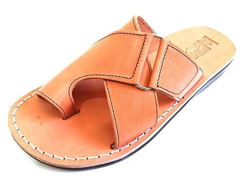 ef2b2cd726732 Amazon.com   SANDALIM Leather Sandals for Men Flip Flops Greek Roman ...