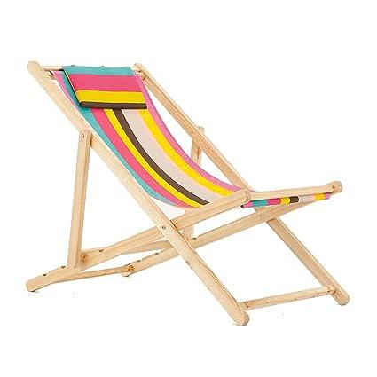 Tumbonas ZGL Reclinables Silla Plegable Silla de Playa ...