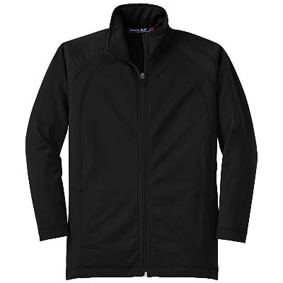 Sport-Tek Youth Tricot Track Jacket, Black/Black, XL