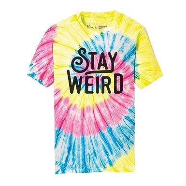 4efd042e Amazon.com: WUE Stay Weird Adult Tie Dye T-Shirt: Clothing