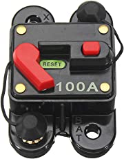 heacker Waterproof 12V-24V DC 100A Circuit Breaker Reset Inline Fuse Inverter Automobile Panel Mounting Car Marine Boat