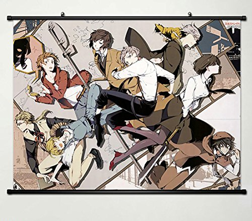 Wall Scroll Poster Fabric Painting For Anime Bungo Stray Dogs Special Detective Company