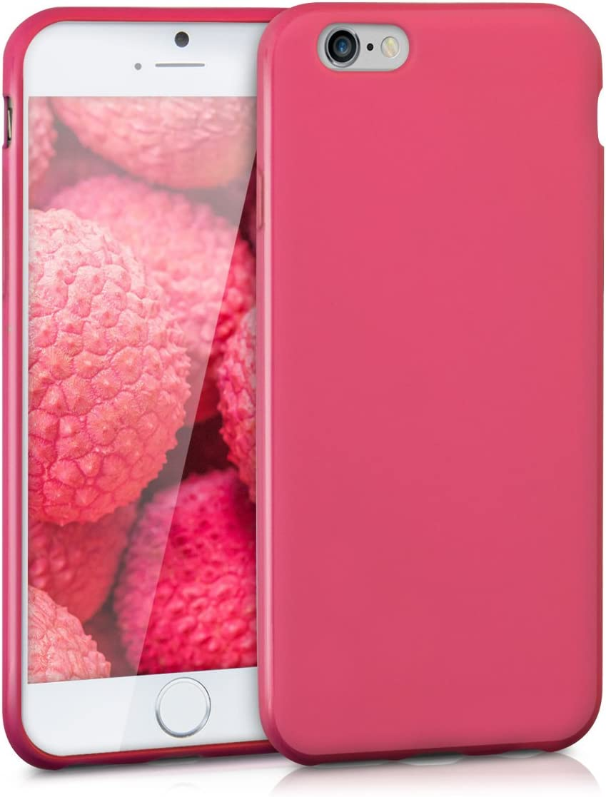 kwmobile TPU Case Compatible with Apple iPhone 6 / 6S - Case Soft Thin Slim Smooth Flexible Protective Phone Cover - Dark Pink Matte